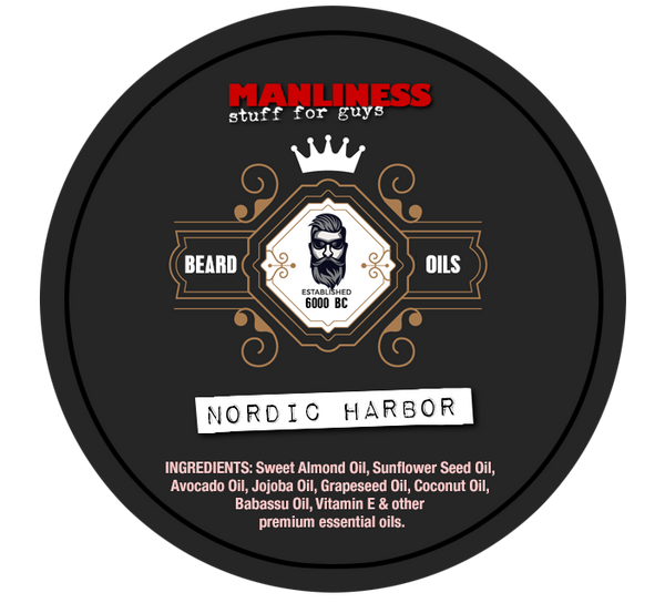 MANLINESS Beard Balm - Nordic Harbor | Conditioner & Styling Pomade | 2 Oz.