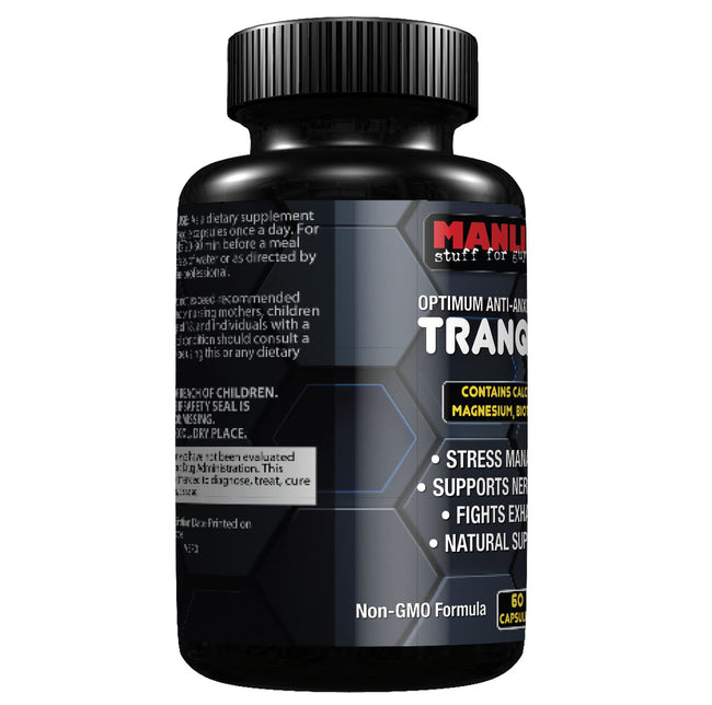 Manliness TRANQUILO – Optimum Anti-Anxiety Formula | Stress Management | Supports Nerve Health | Fights Exhaustion
