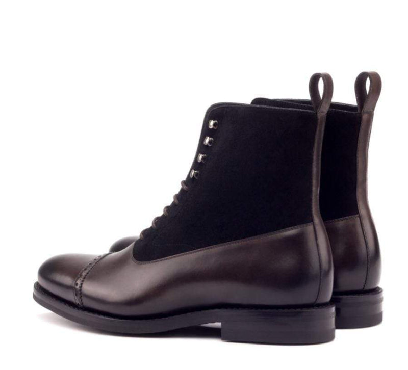 Balmoral - Dark Brown Black Balmoral Boot Walcott's Footwear