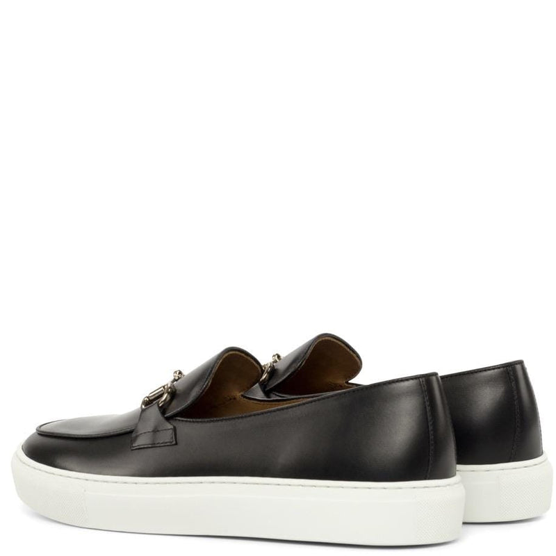 Broughton HB - Black Box Calf Belgian Trainers Walcott's Footwear