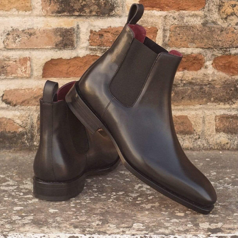 Chelsea - Black Box Calf - Beveled Waist Chelsea Boot Walcott's Footwear