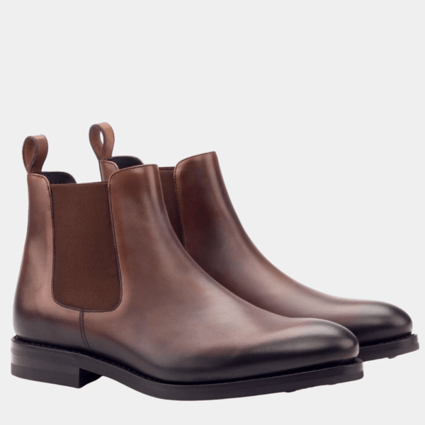 Chelsea - Med Brown Painted Calf Chelsea Boot Walcott's Footwear