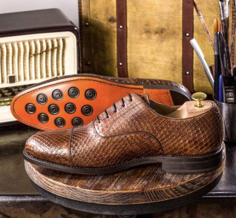 Darliston - Med Brown Exotic Oxfords Walcott's Footwear