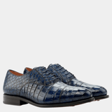 Darliston - navy exotic Oxfords Walcott's Footwear