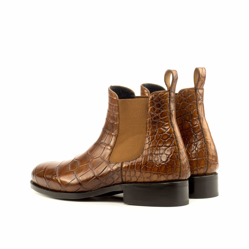 Easington -Med Brown Exotic Chelsea Boot Walcott's Footwear