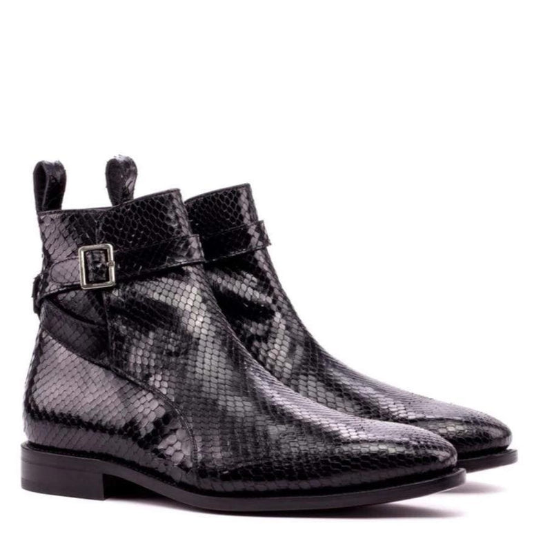 Hagley - Black Exotic Jodhpur Boot Walcott's Footwear