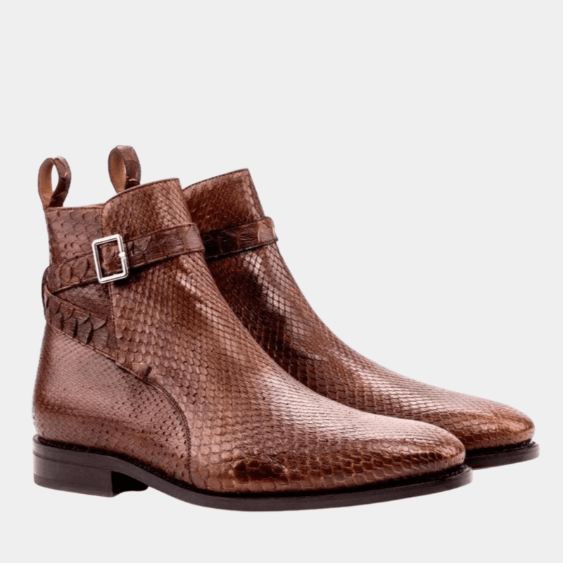 Hagley - Med Brown Exotic Jodhpur Boot Walcott's Footwear