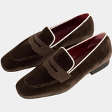 Highgate - Brown Velvet Slipper Walcott's Footwear