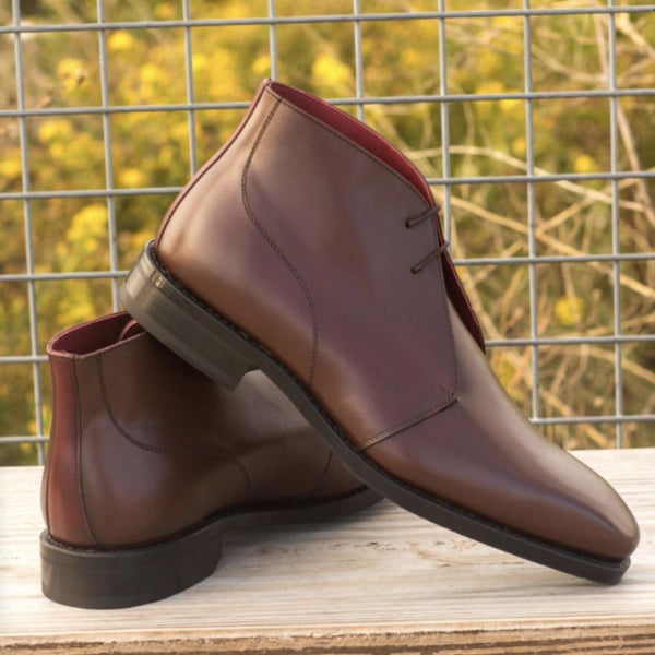 Hodges - Burgundy Dark Brown Box Calf Chukka Boot Walcott's Footwear