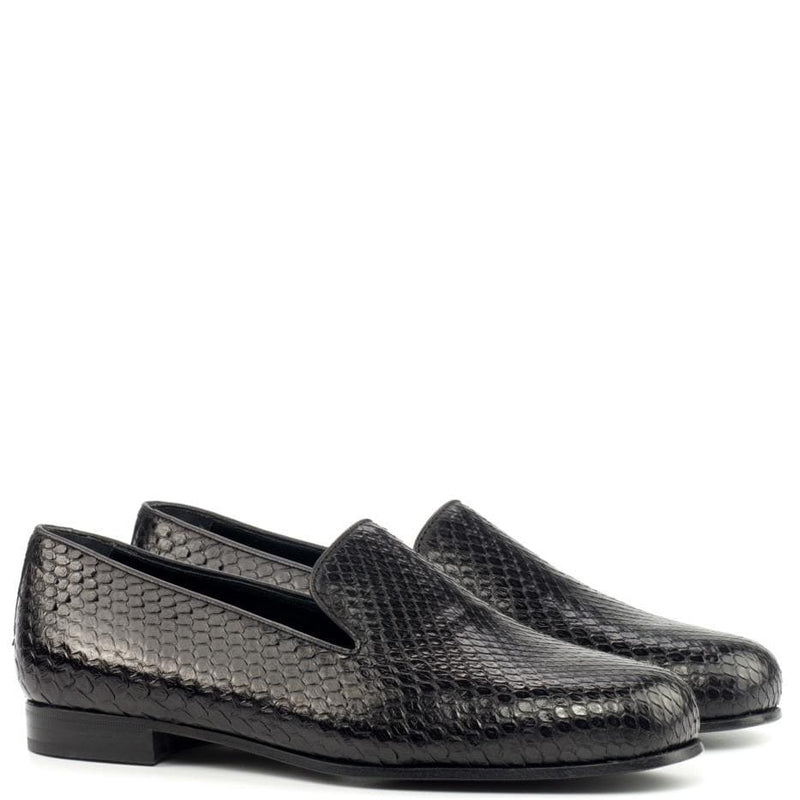 Kettering - Black Exotic Slipper Walcott's Footwear