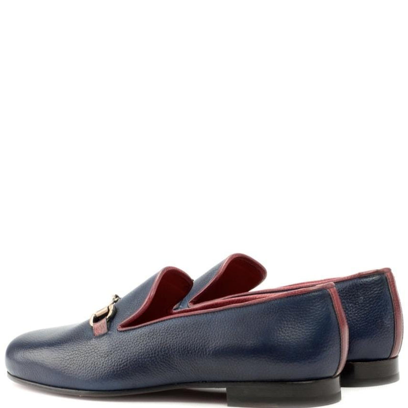Kettering H - Navy Full Grain Slipper Walcott's Footwear