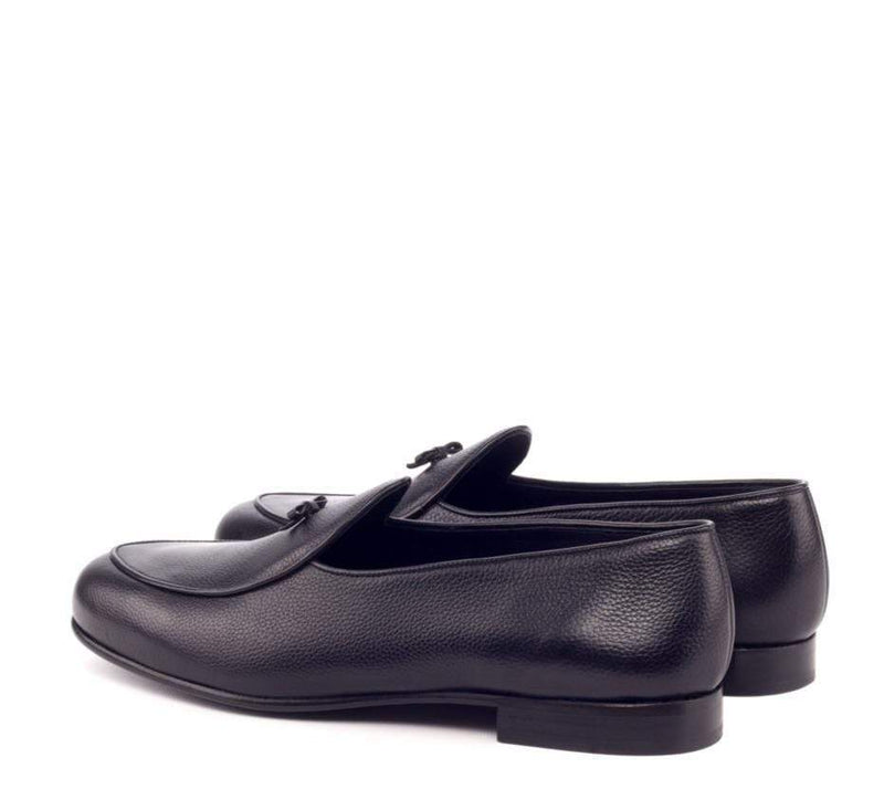 Malvern - Black Painted Full Grain Belgian Loafer Walcott's Footwear
