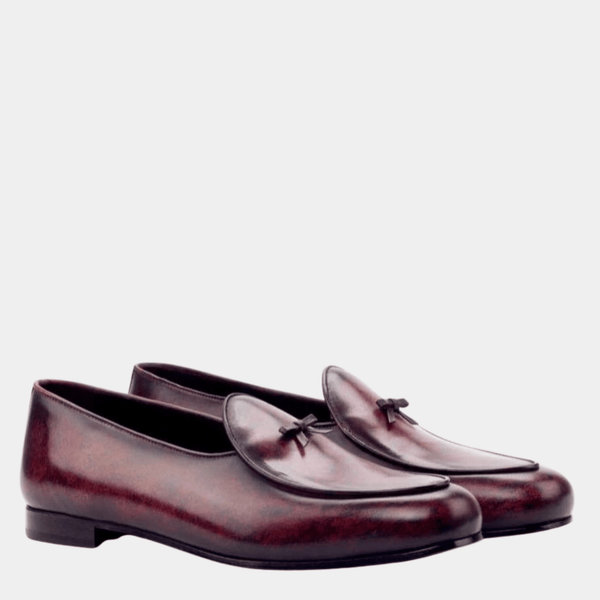 Malvern - Brown Crust Patina Belgian Loafer Walcott's Footwear