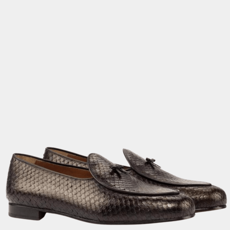 Malvern - Dark Brown Exotic Belgian Loafer Walcott's Footwear