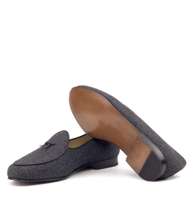 Malvern - Flannel Dark Grey Belgian Loafer Walcott's Footwear