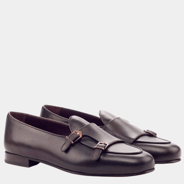 Malvern M - Dark Brown Belgian Monk Loafer Walcott's Footwear