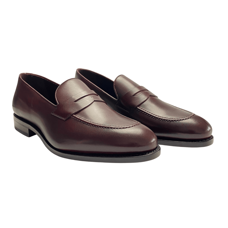 Mandeville - Burgundy Painted Calf Penny Loafer Walcott's Footwear