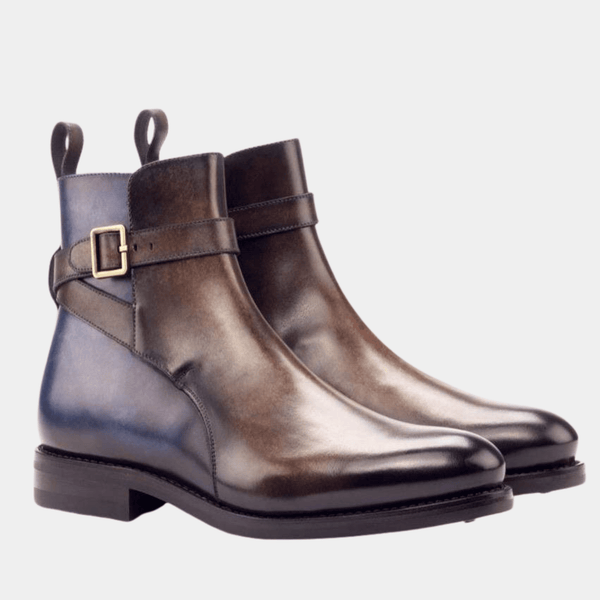 Osbourne  - Brown Denim Crust Patina Jodhpur Boot Walcott's Footwear