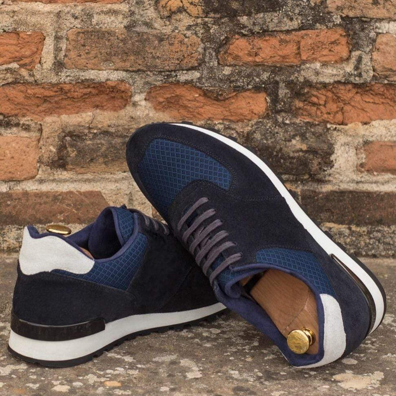 Preston - Navy Suede Trainers Walcott's Footwear