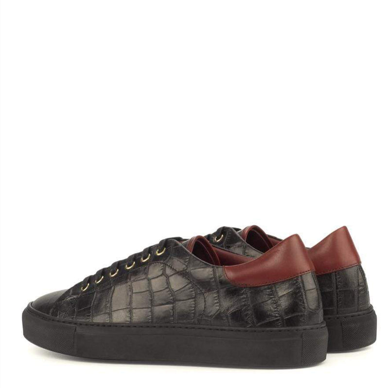 Riversdale - Black Red Trainers Walcott's Footwear
