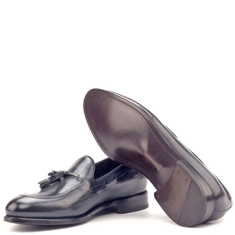 Rushton - Grey Crust Patina Tassel Loafer Walcott's Footwear