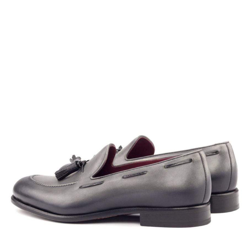 Rushton Tassel - Grey Burnishing Tassel Loafer Walcott's Footwear