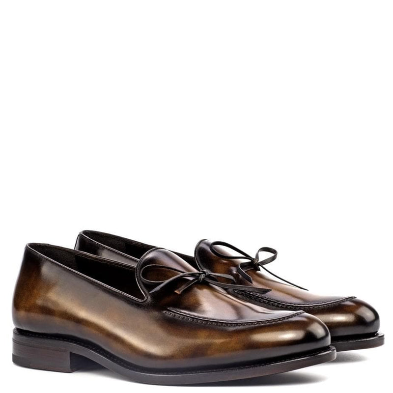 Rushton - tobacco crust patina Horse-bit Loafer Walcott's Footwear