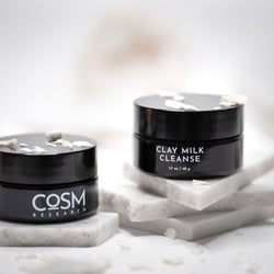 COSM Research Clay Milk Cleanse can be used as your primary cleanser or as step 2 in a double cleanse routine.