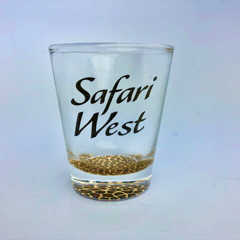 Animal Print Safari West Shot Glass