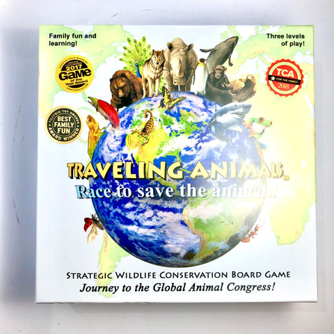 Traveling Animals Game Board