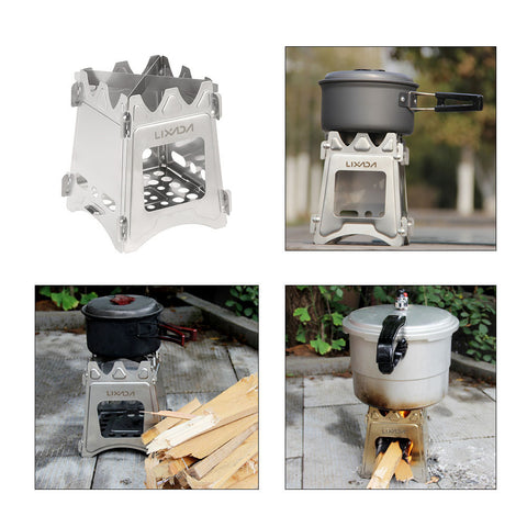 NEW ULTRALIGHT TITANIUM WOOD BURNER CAMPING STOVE