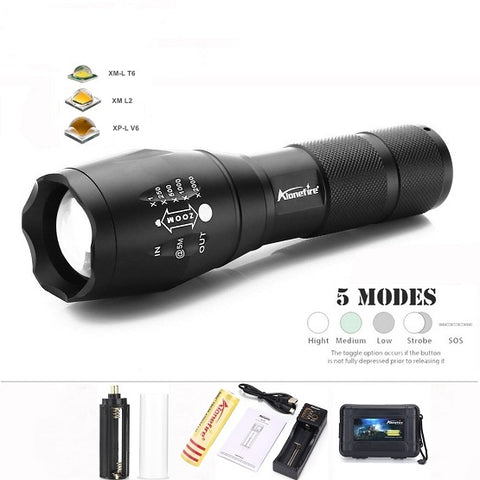 TACTICAL MILITARY GRADE FLASHLIGHT - VERY TOUGH!