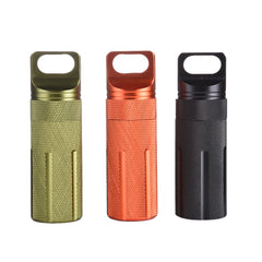 CNC Outdoor Metal Box /Waterproof Emergency First Aid Survival Pill Bottle/Camping EDC Tank Box for Medicine