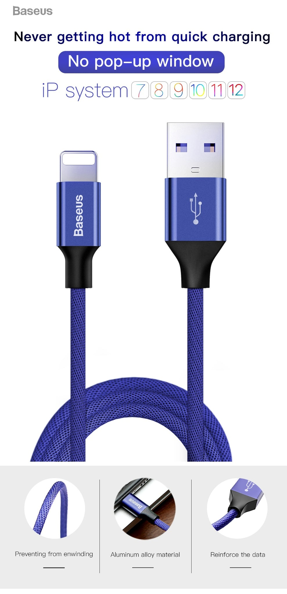 Usb Cable For Iphone Baseus Fast Data Charging Charger Plus To Wiring Diagram Feature Type Cord Mobile Phone Cables
