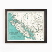 Vancouver Island & Adjacent Mainland Map