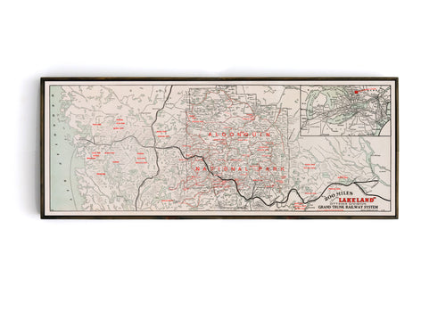 Algonquin National Park - 1912 Grand Trunk Railway Map