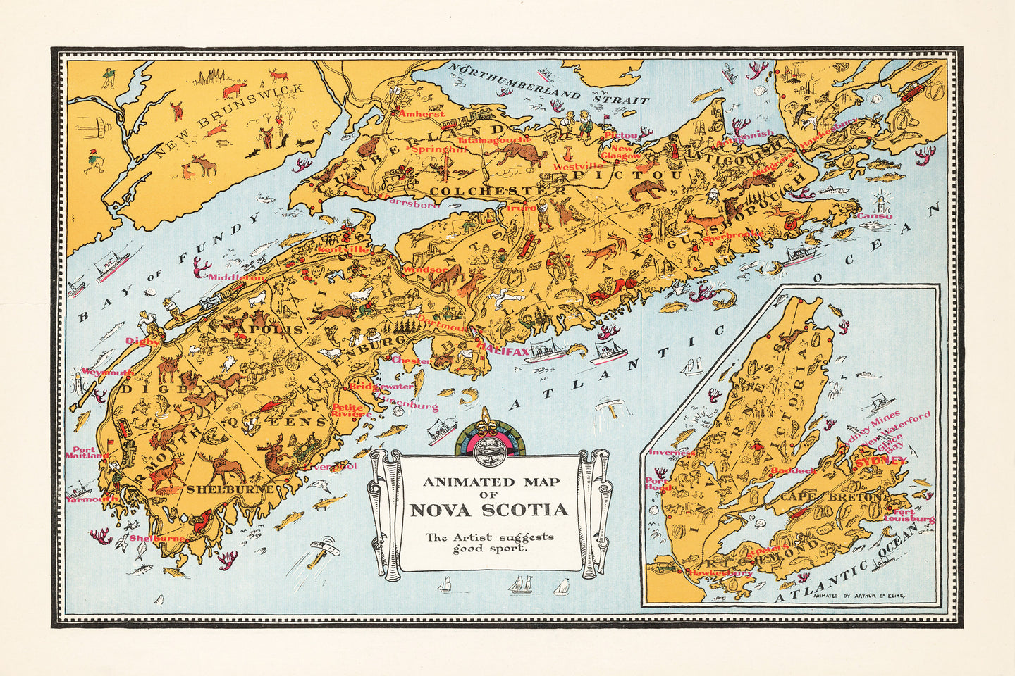 Animated Map of Nova Scotia