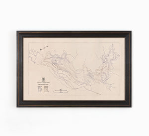 Anstruther Lake - Bathymetry Map - North Kawartha