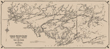 Quetico Forest Region & Rainy Lake Reserve Map - 1919 Canadian Northern Railway Map