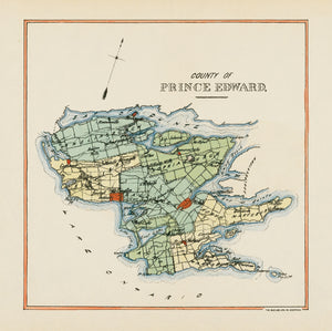 Prince Edward County Map - 1853