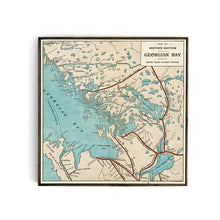 Eastern Section of Georgian Bay - Grand Trunk Railway Map from 1903
