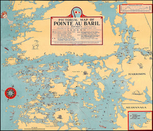 Pointe Au Baril - Historic Cottagers Association Map 1945
