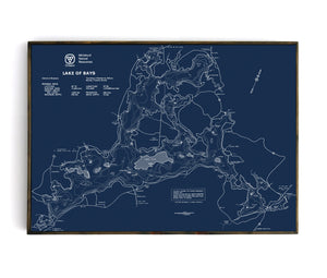 Lake of Bays Bathymetric Map