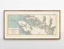 North Vancouver Island - 1870 map by Sir Sandford Fleming