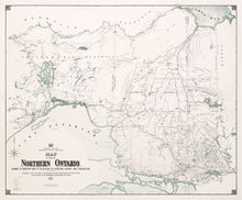 Northern Ontario - 1901 Department of Crown Land Survey Map