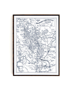 Ontario Motor League - Map of Muskoka Lakes District