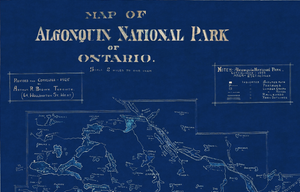 Algonquin Park - 1925 Blue Acetate Map