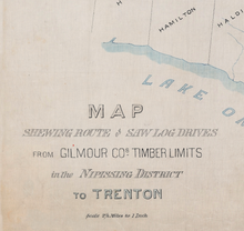 Log Drive Route Map - 1894