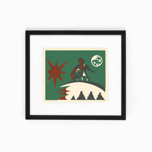 Mi'kmaq Silkscreen - The Shooting Star II