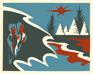 Mi'kmaq Silkscreen - The Shooting Star I